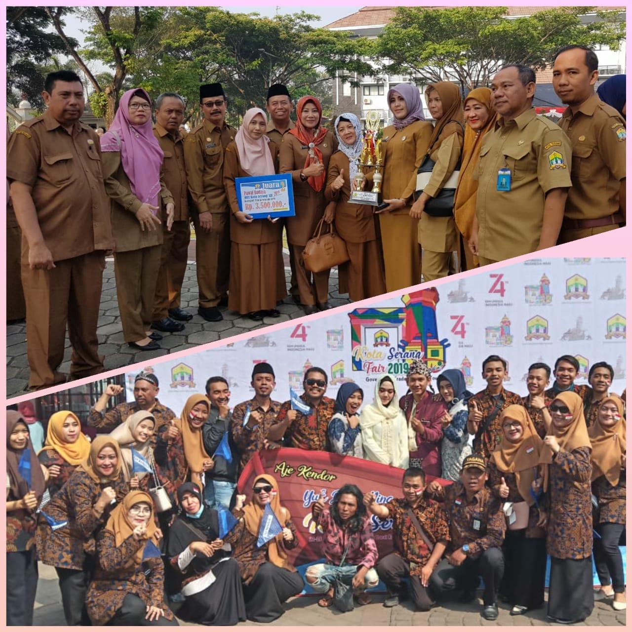 Semarak HUT Kota Serang Ke-12 Dinas Sosial Meraih Juara ke 2 Pawai Budaya kategori Tim Kesenian OPD