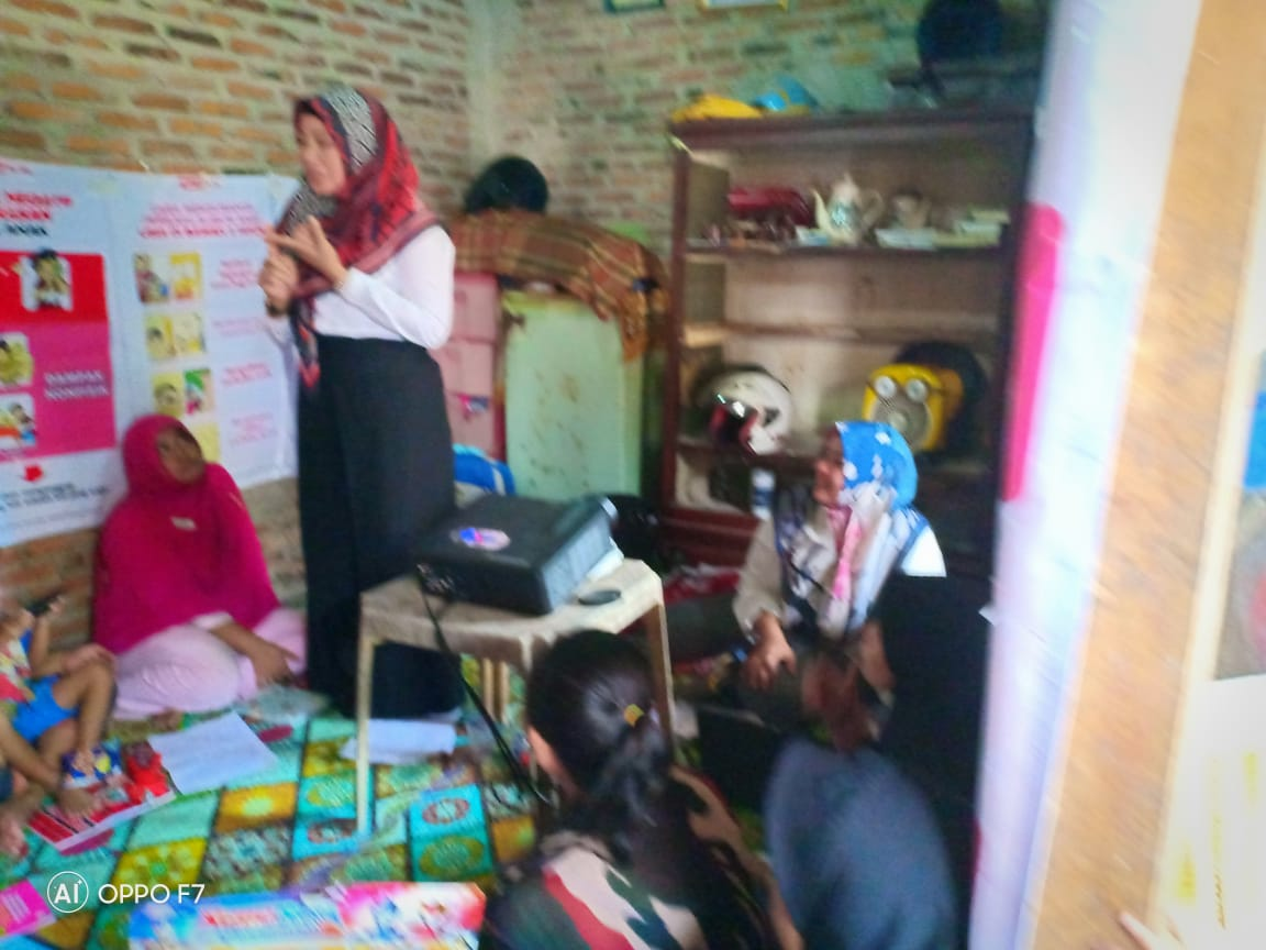 Kepala Bidang Perlindungan dan Jaminan Sosial Sebagai Nara Sumber P2K2 Di Kp.Benggala,Kel.Cipare Serang-Banten