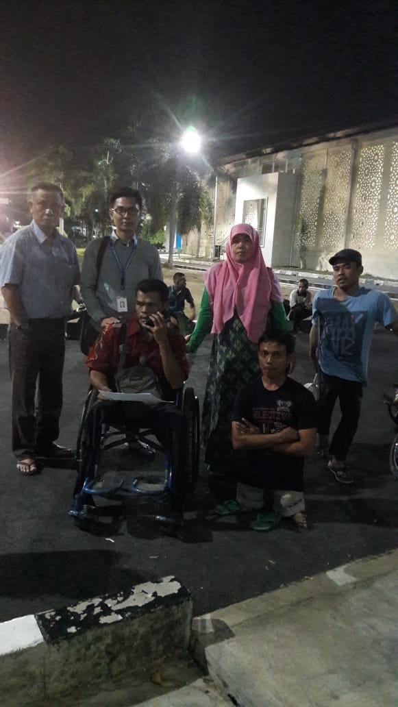 Pada Tgl 21 Oktober 2019 mendampingi disabilitas yang mengikuti pelatihan kelistrikan di BLK Kota Serang Program BBRVBD Bogor / Kementrian